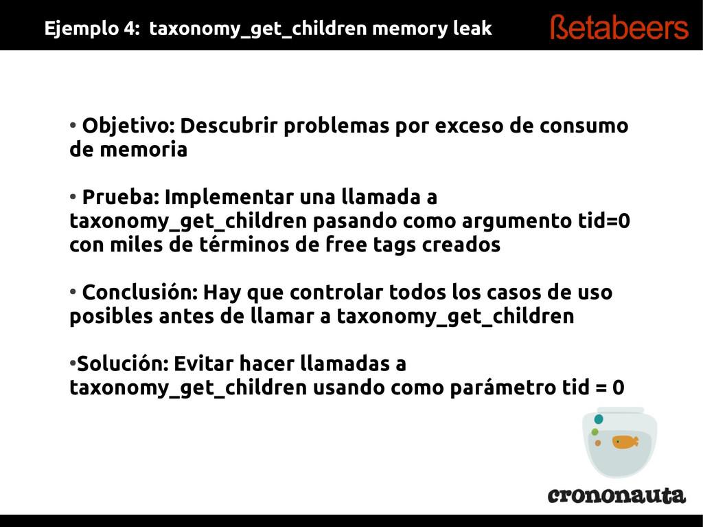 ● Objetivo: Descubrir problemas por exceso de c...