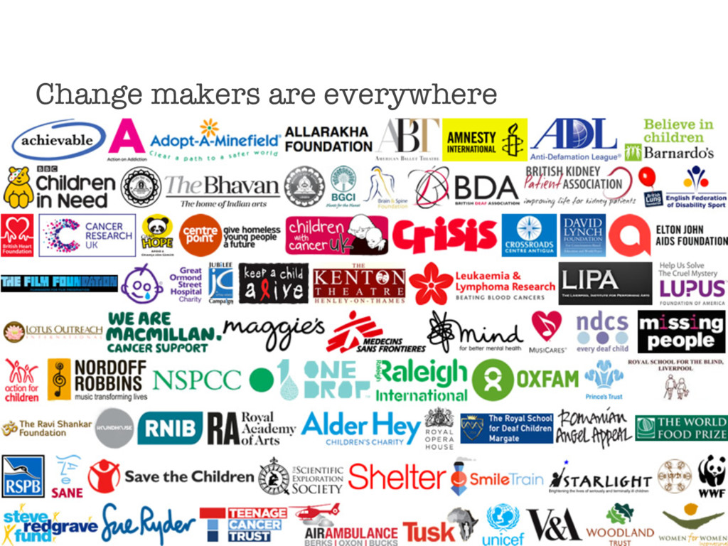 Change makers are everywhere