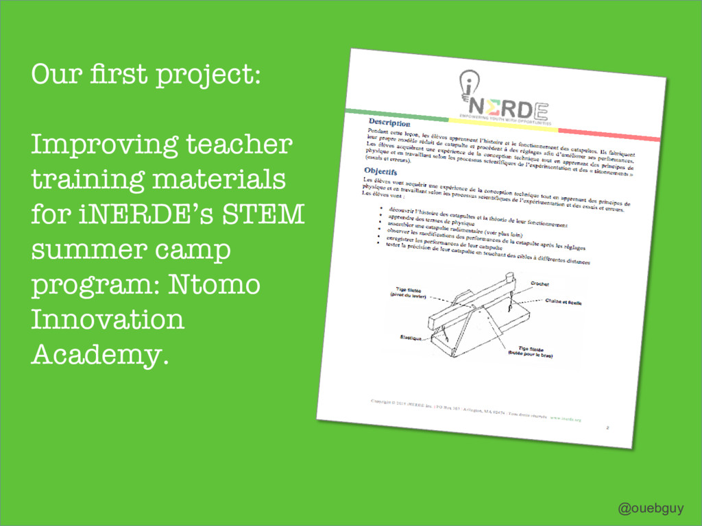 Our first project: Improving teacher training ma...