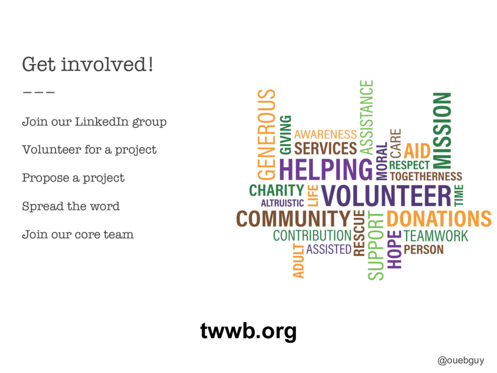 Get involved! Join our LinkedIn group Volunte...