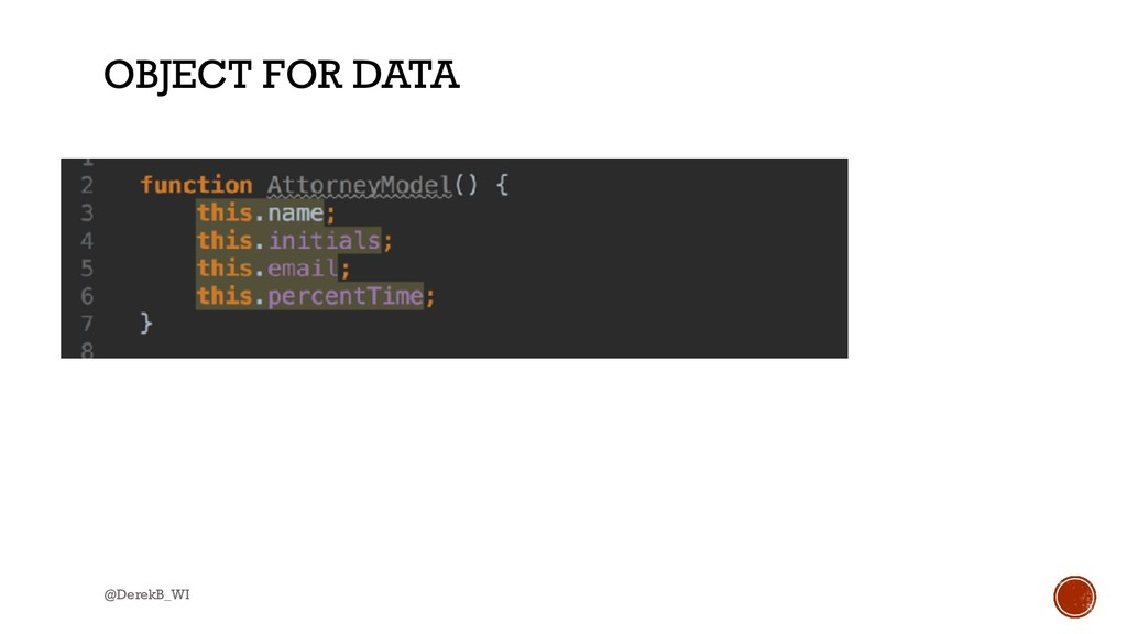@DerekB_WI OBJECT FOR DATA