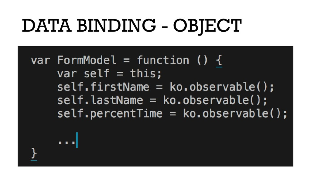 DATA BINDING - OBJECT