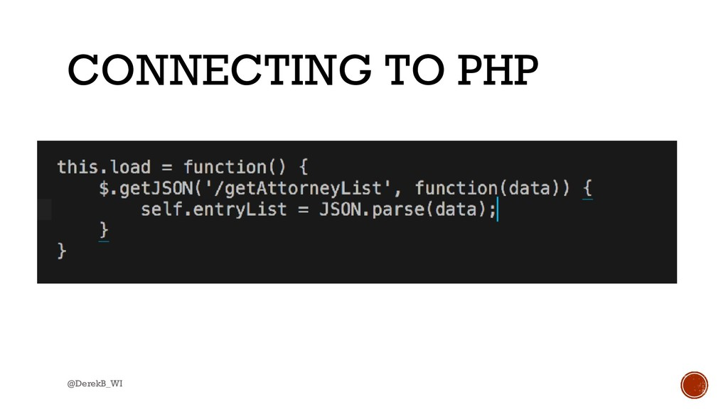 @DerekB_WI CONNECTING TO PHP