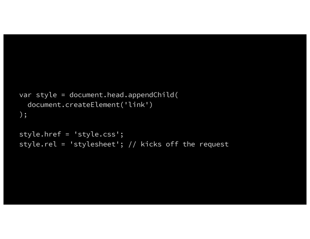 var style = document.head.appendChild( document...