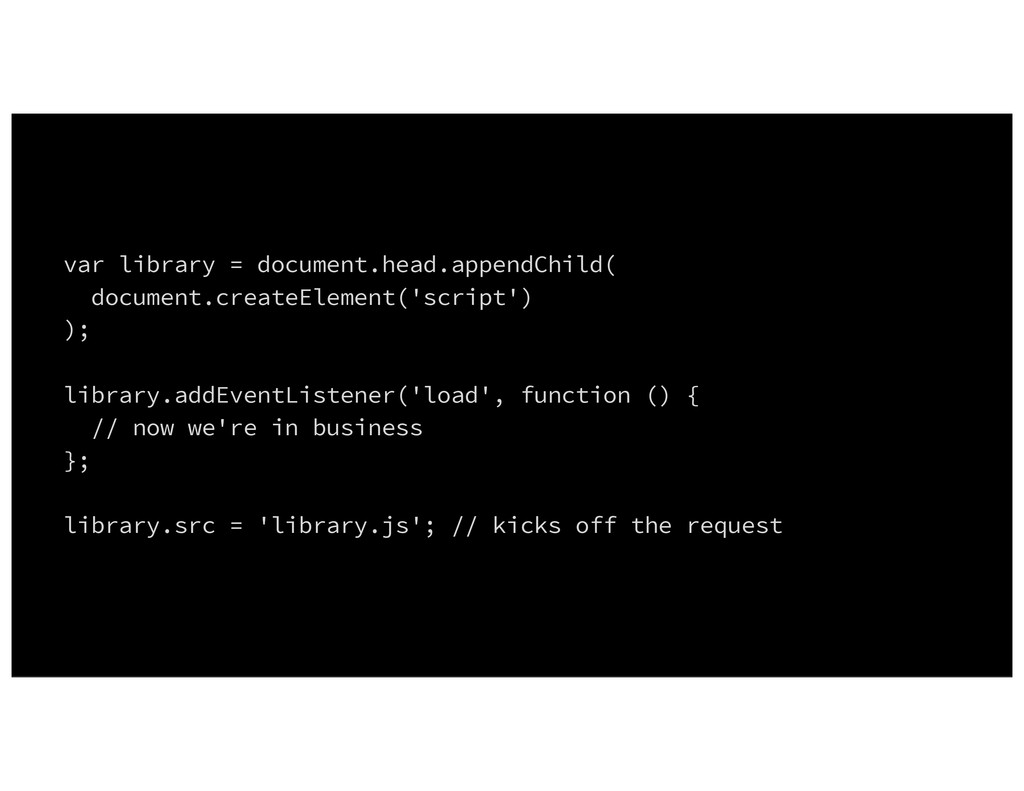 var library = document.head.appendChild( docume...
