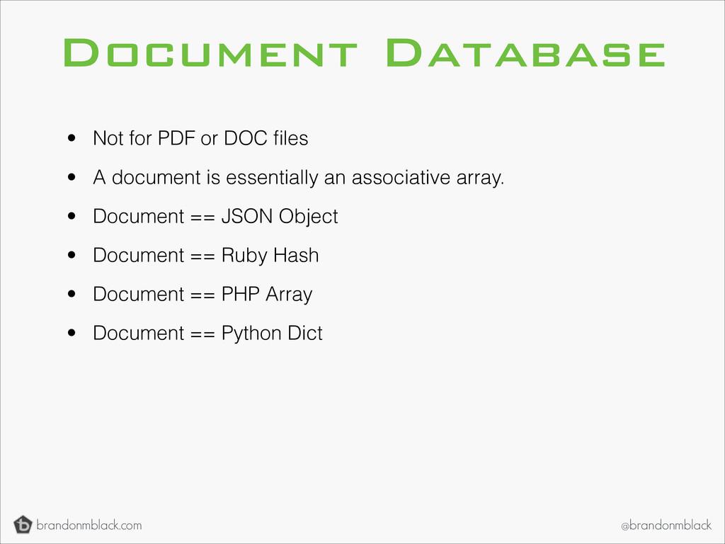brandonmblack.com @brandonmblack Document Datab...