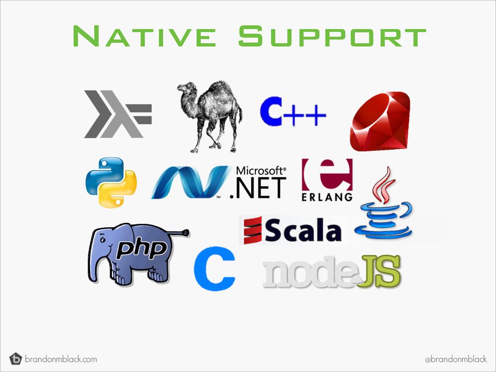 brandonmblack.com @brandonmblack Native Support