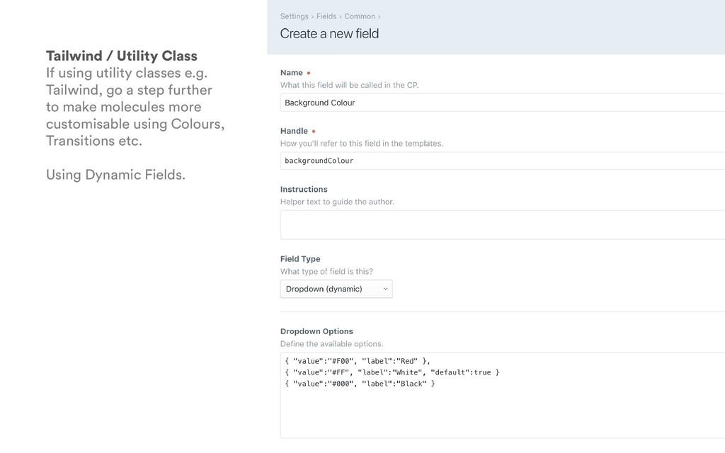 Tailwind / Utility Class If using utility class...