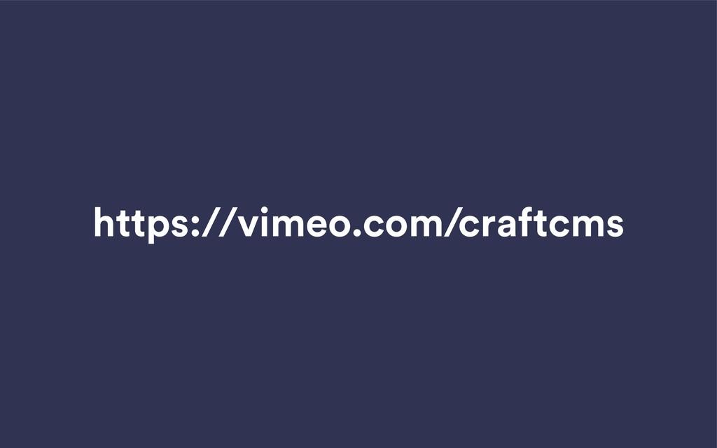 https://vimeo.com/craftcms