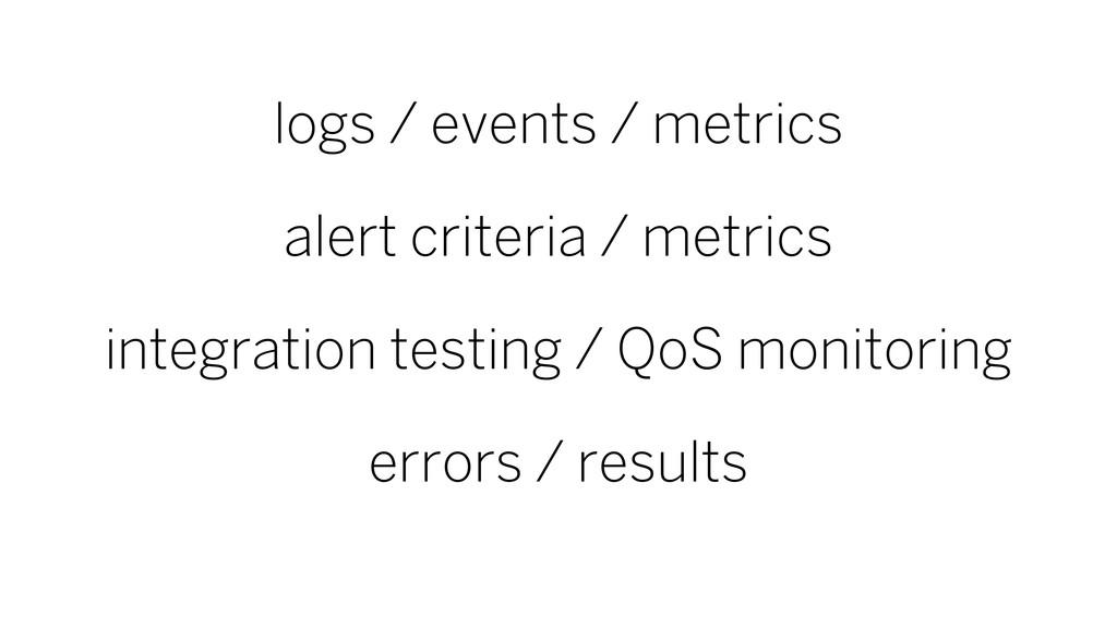 logs / events / metrics alert criteria / metric...