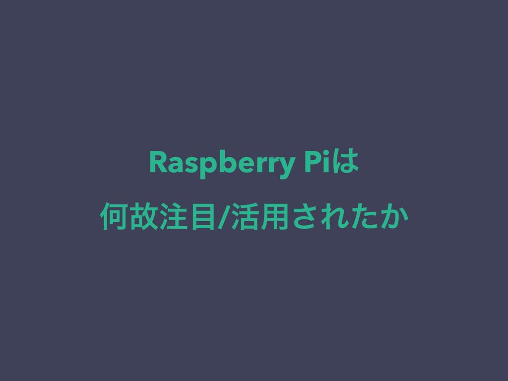 Raspberry Pi Կނ/׆༻͞Ε͔ͨ