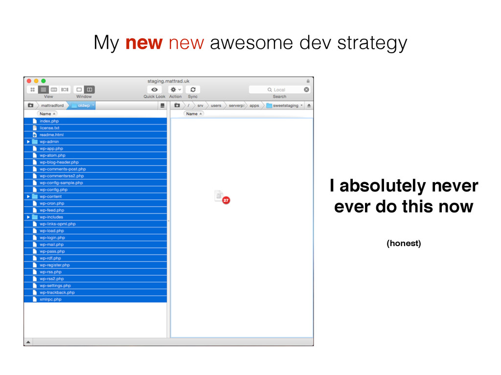 My new new awesome dev strategy I absolutely ne...