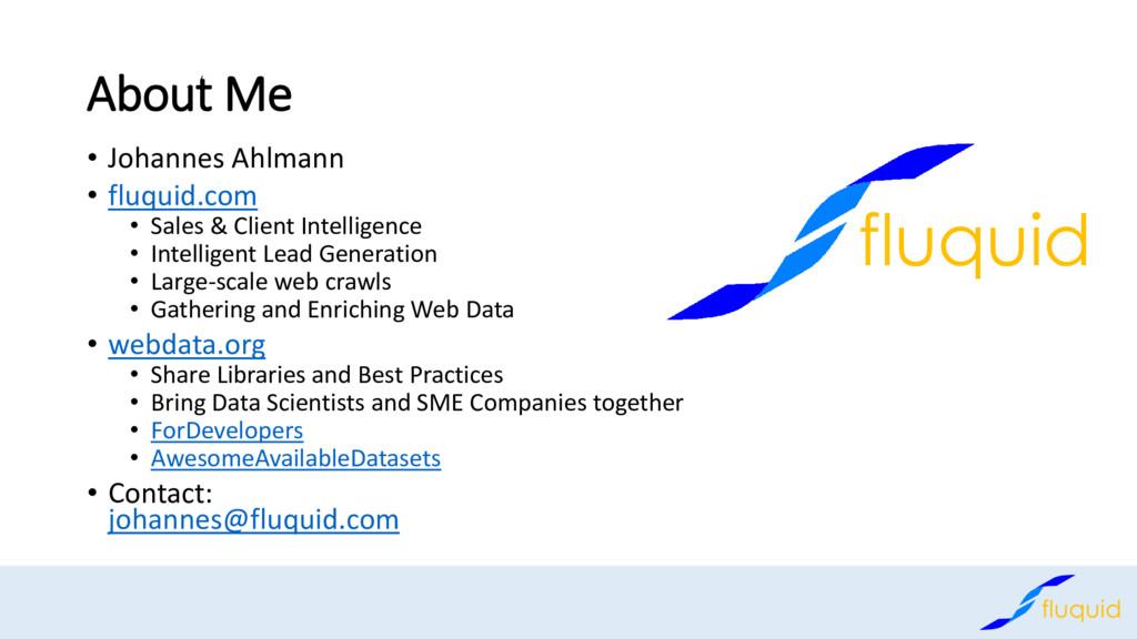 About Me • Johannes Ahlmann • fluquid.com • Sal...