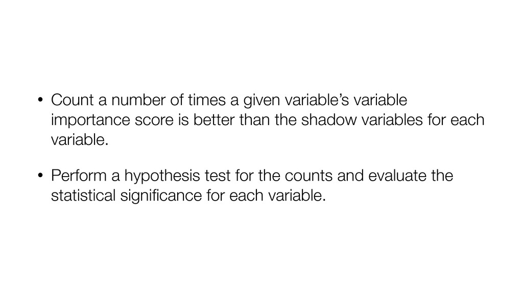 • Count a number of times a given variable's va...