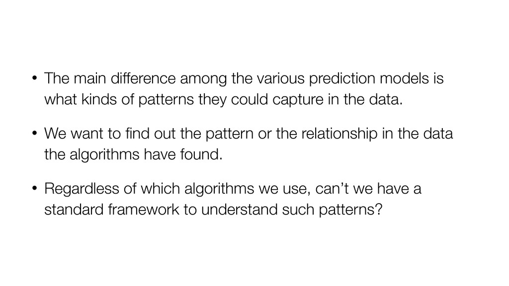 • The main difference among the various predict...