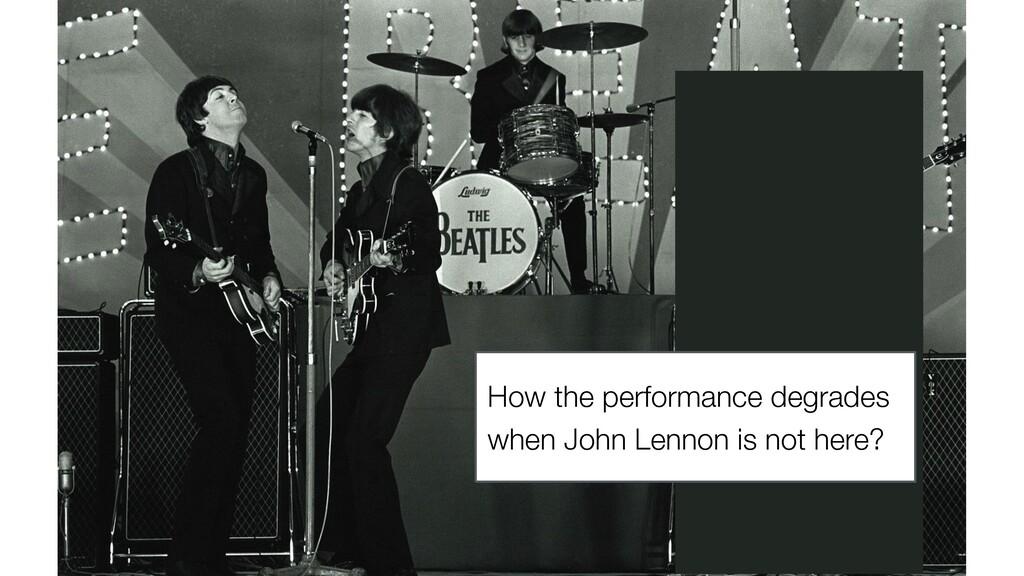 How the performance degrades when John Lennon i...