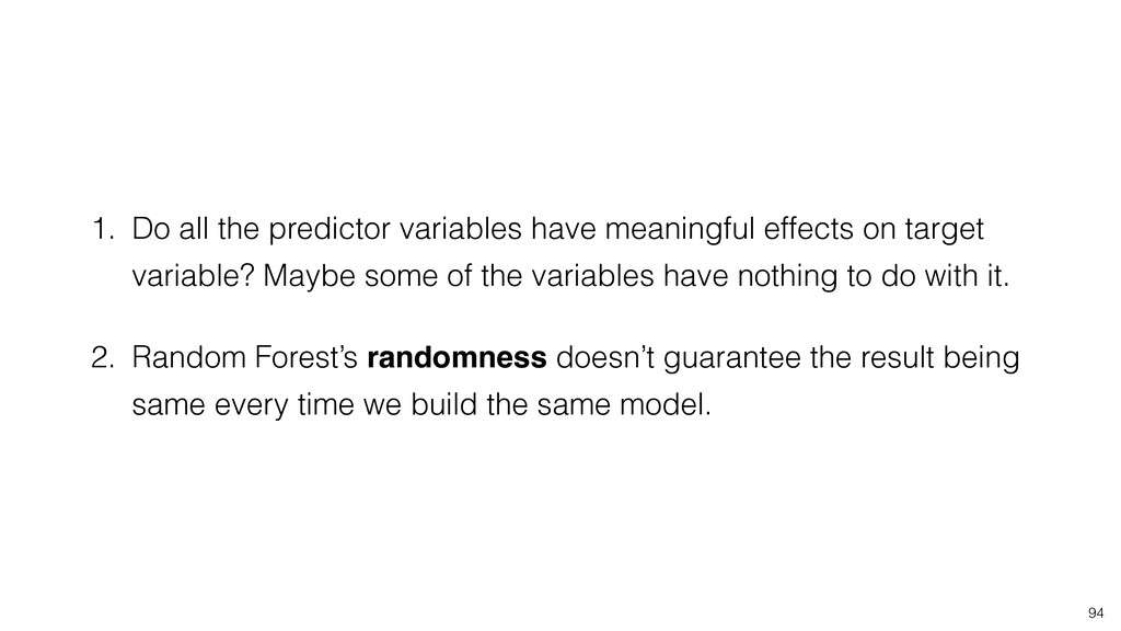 1. Do all the predictor variables have meaningf...