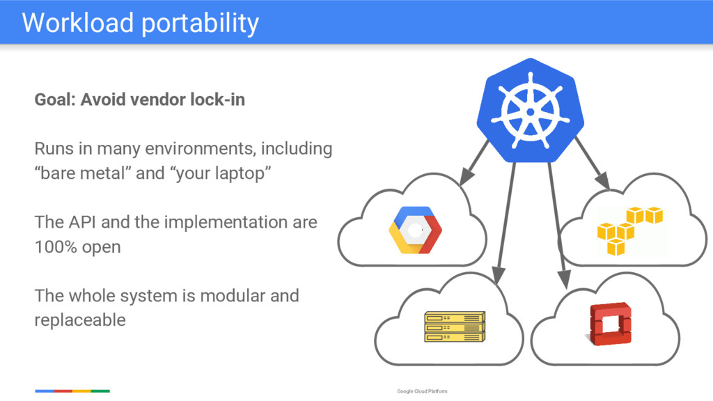 Google Cloud Platform Goal: Avoid vendor lock-i...