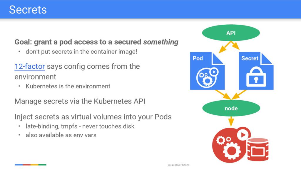 Google Cloud Platform Goal: grant a pod access ...