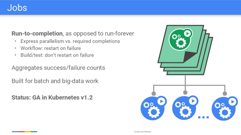Google Cloud Platform Run-to-completion, as opp...