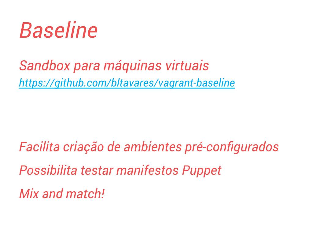 Baseline Sandbox para máquinas virtuais https:/...