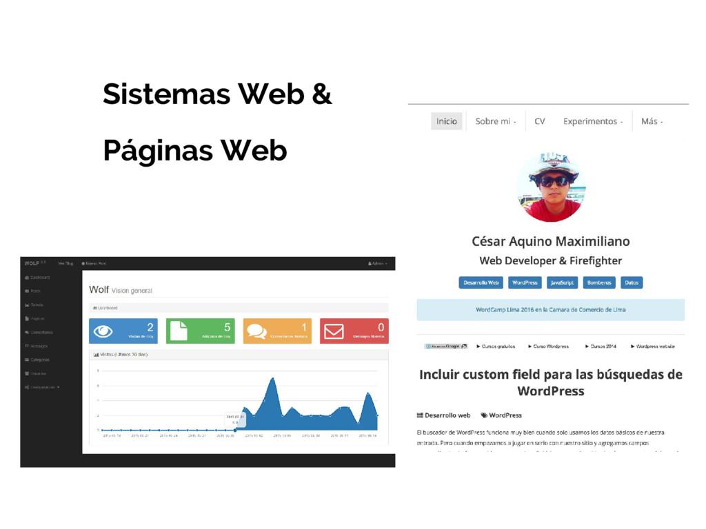 Sistemas Web & Páginas Web