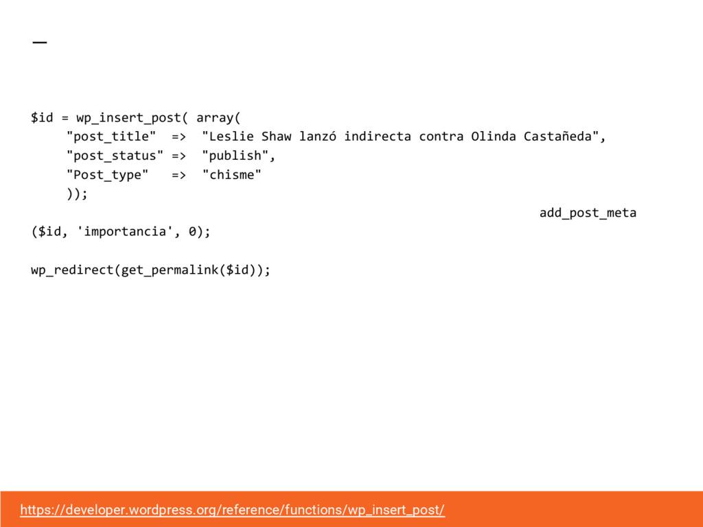 """$id = wp_insert_post( array( """"post_title"""" => """"L..."""