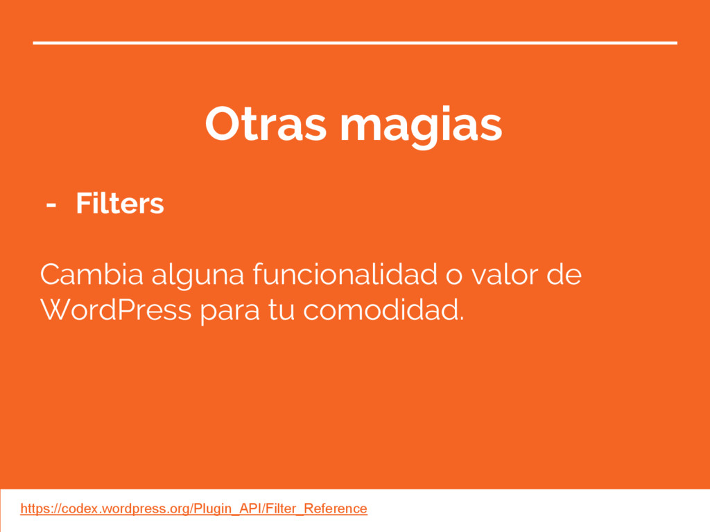 Otras magias - Filters Cambia alguna funcionali...