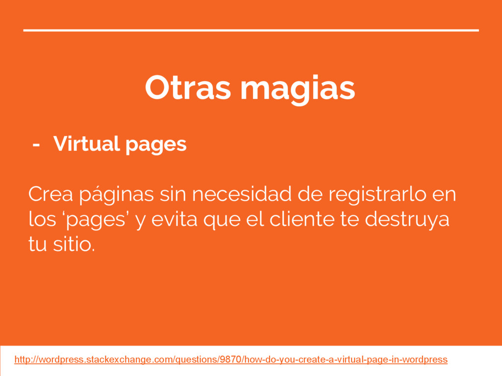 Otras magias - Virtual pages Crea páginas sin n...