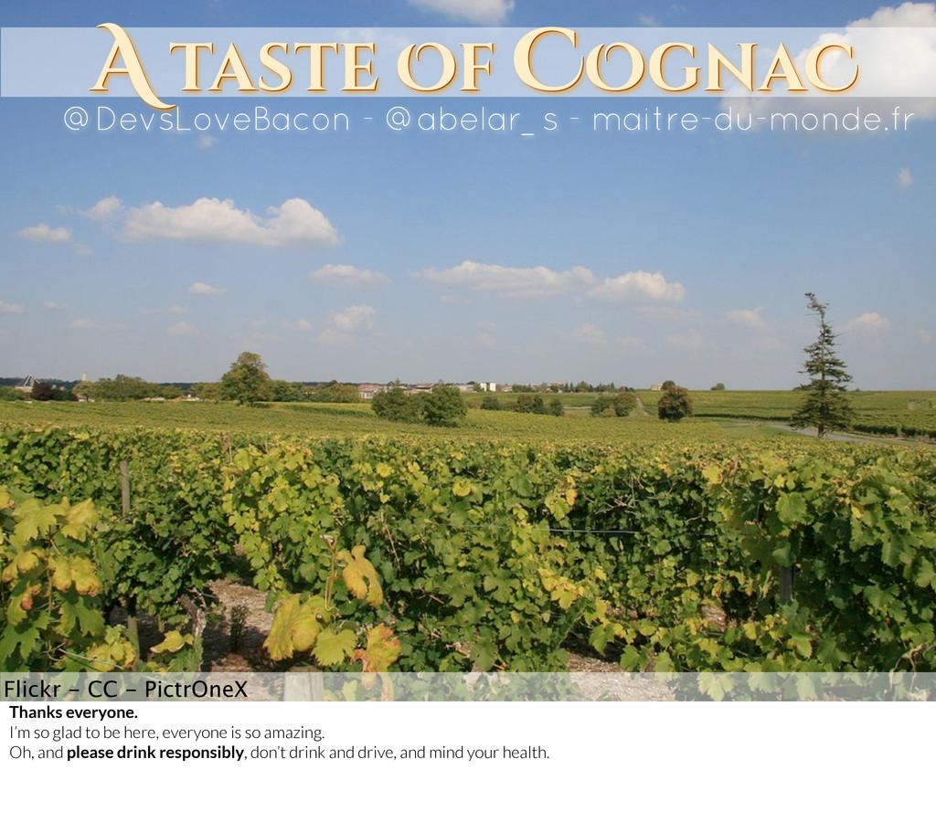 A taste Of COgnaC A taste Of COgnaC @DevsLoveBa...