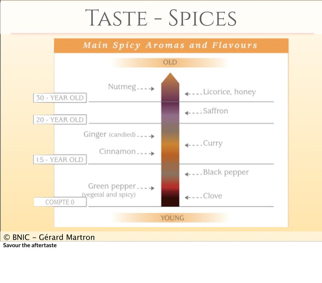 Taste - Spices © BNIC - Gérard Martron Savour t...