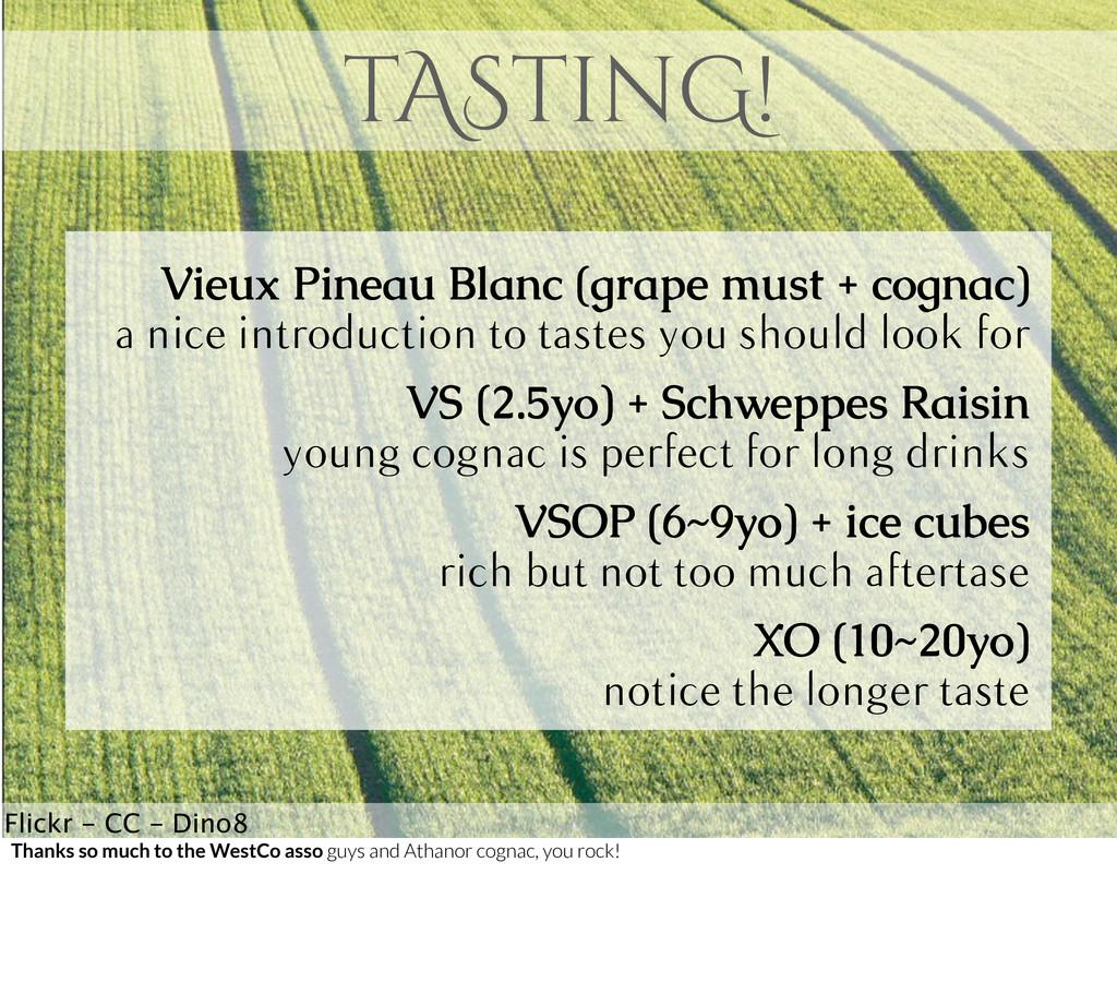 tAStinG! Vieux Pineau Blanc (grape must + cogna...