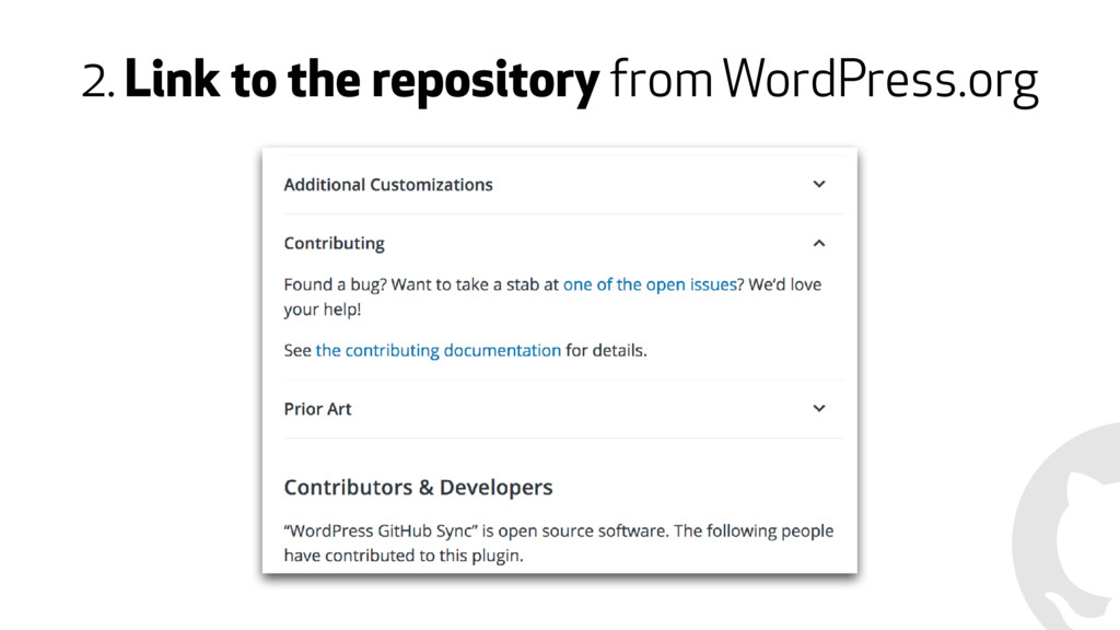 2. Link to the repository from WordPress.org