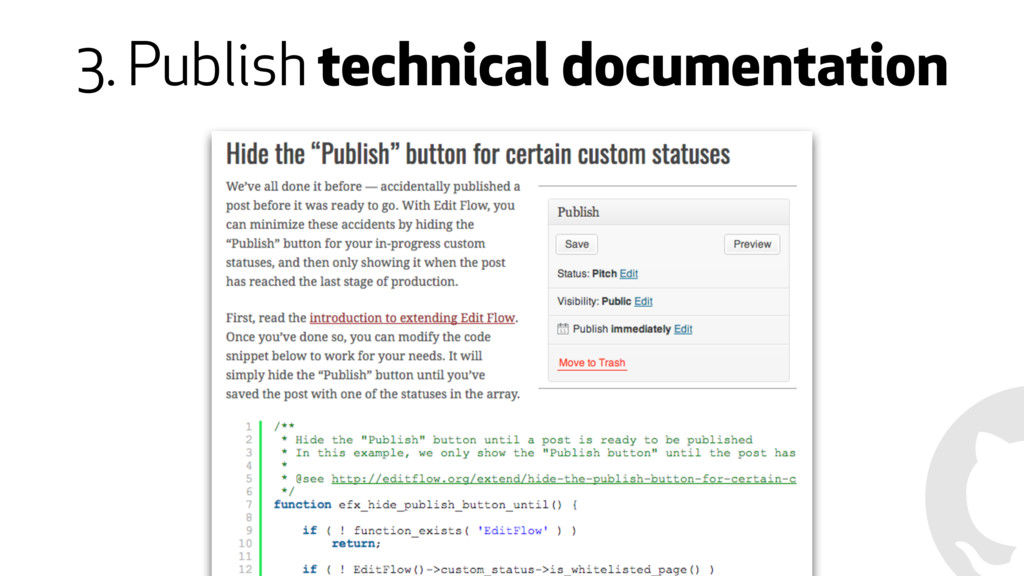 3. Publish technical documentation