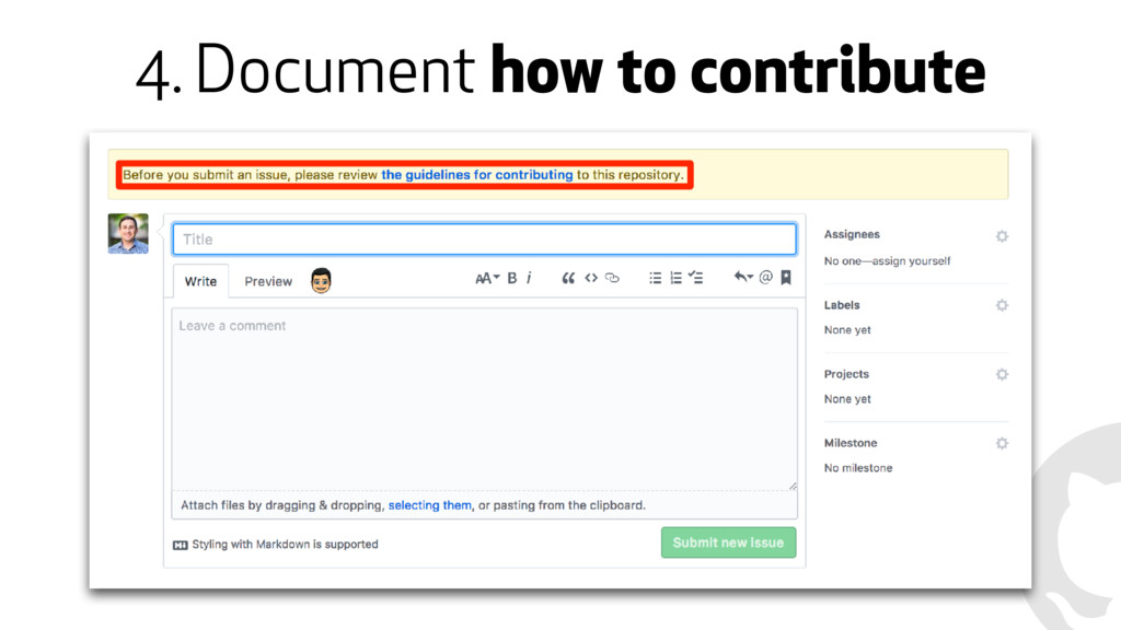 4. Document how to contribute