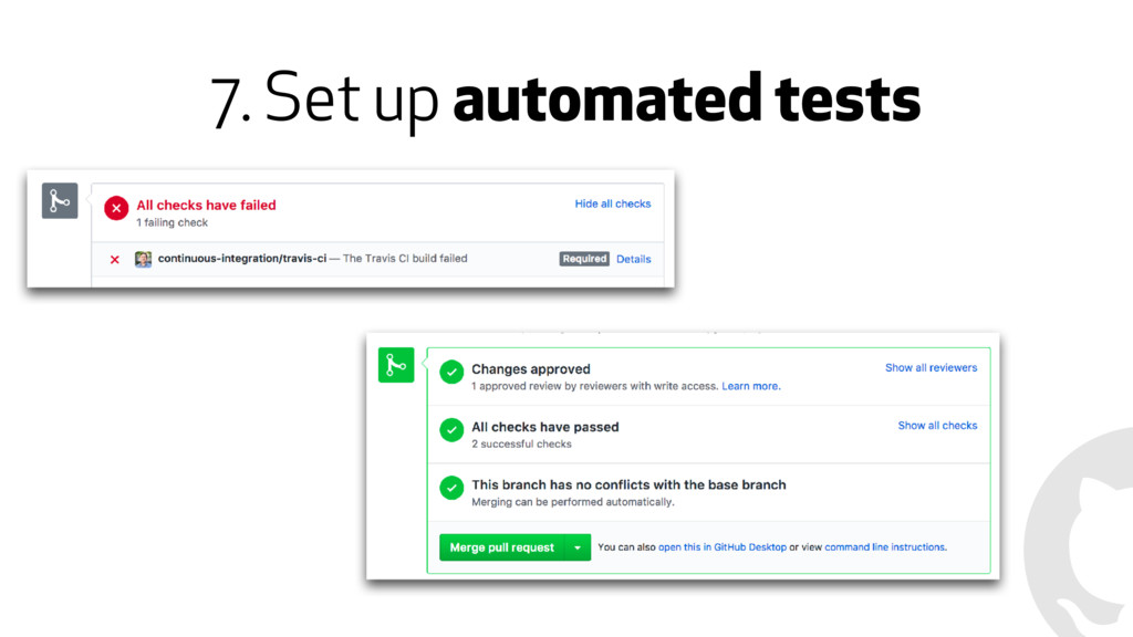 7. Set up automated tests