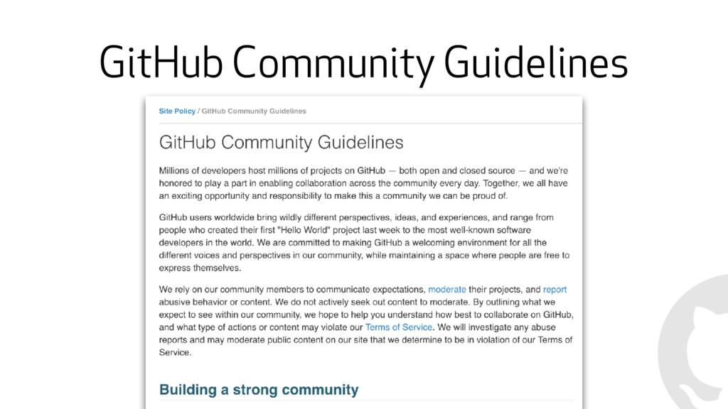 GitHub Community Guidelines