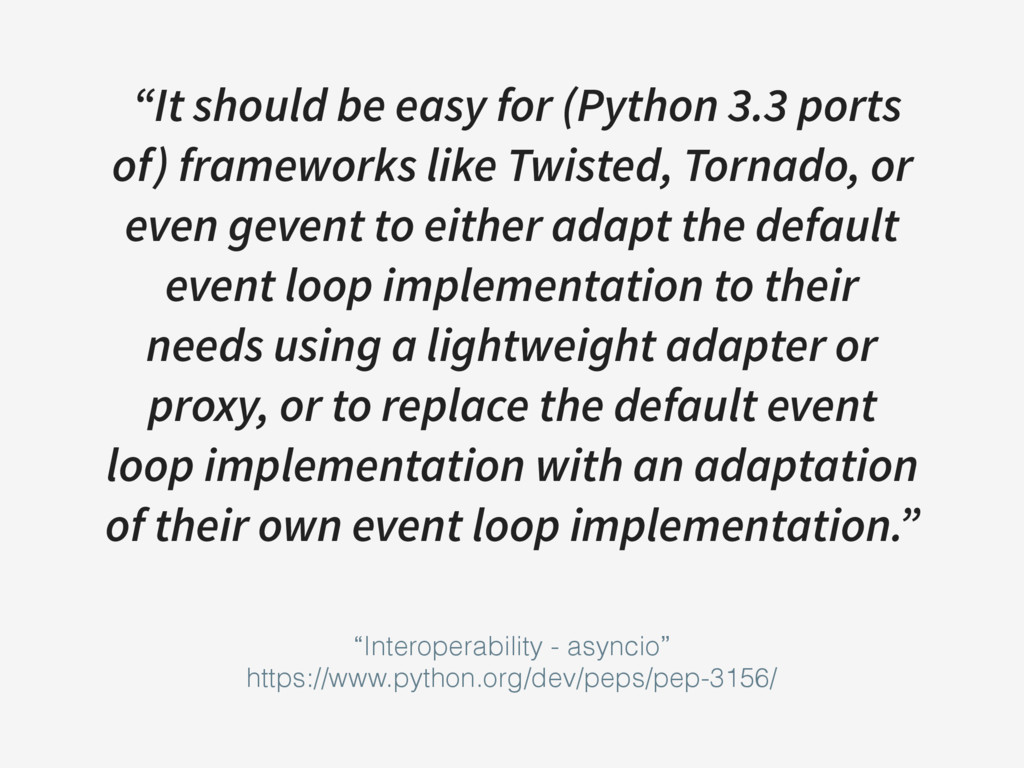 """It should be easy for (Python 3.3 ports of) fr..."