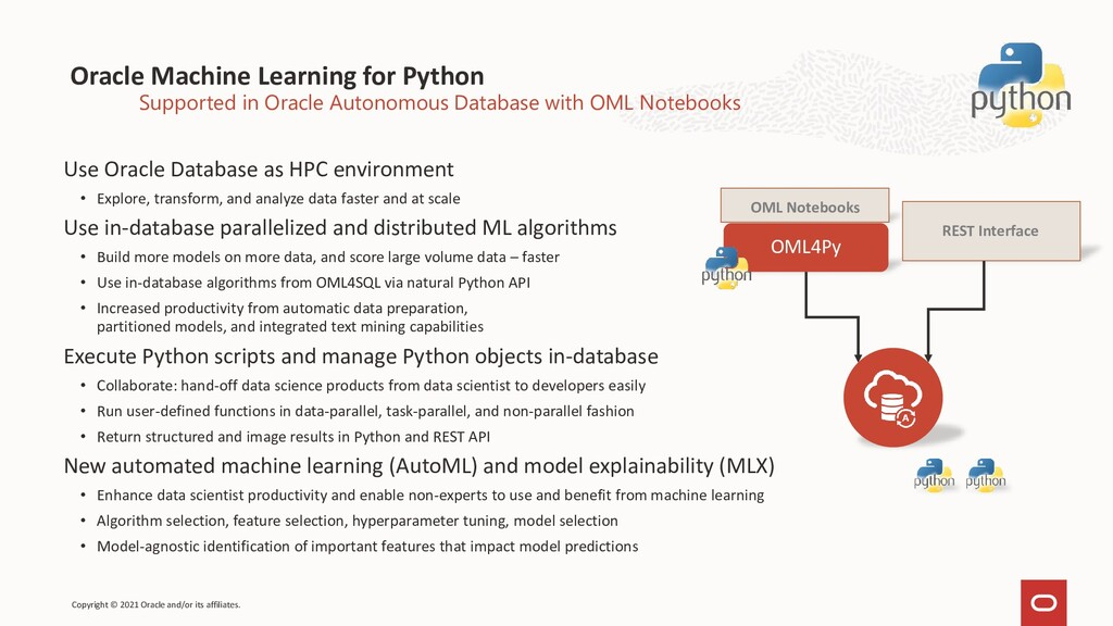 Oracle Machine Learning for Python Use Oracle D...