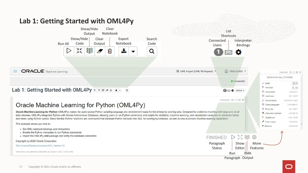 Lab 1: Getting Started with OML4Py Copyright © ...