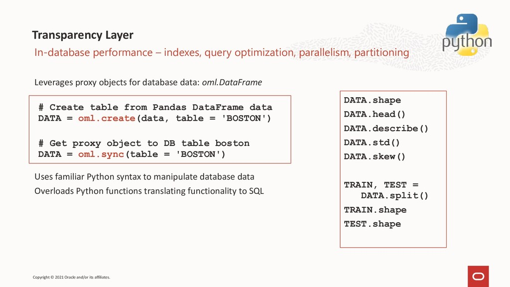 Transparency Layer Leverages proxy objects for ...