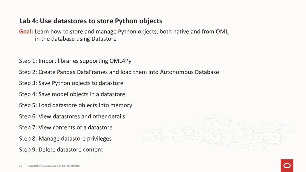 Goal: Learn how to store and manage Python obje...
