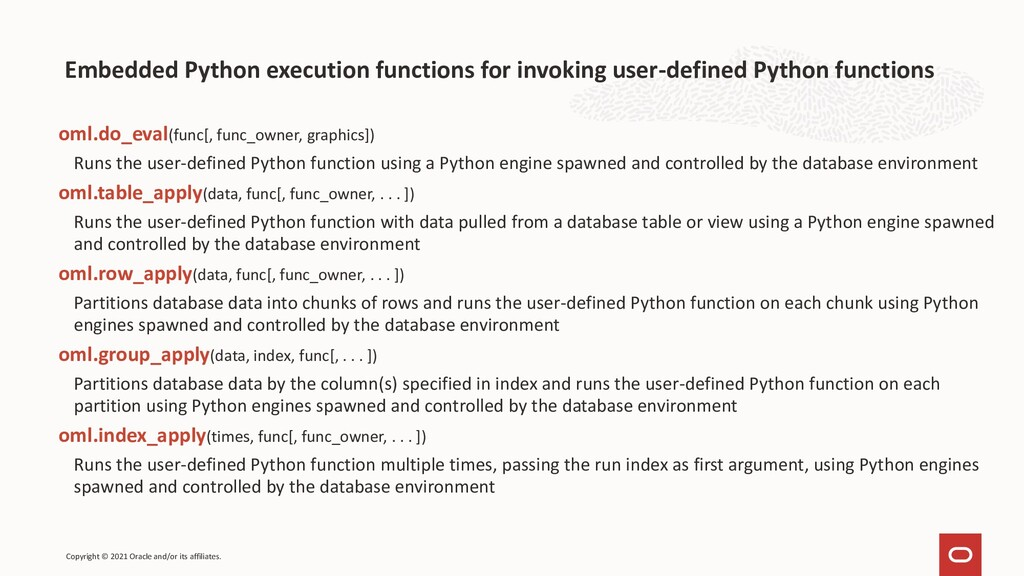 Embedded Python execution functions for invokin...