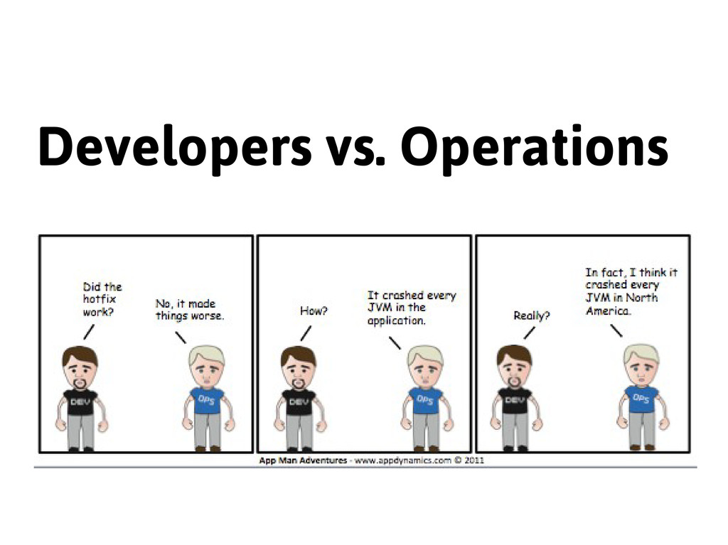 Developers vs. Operations