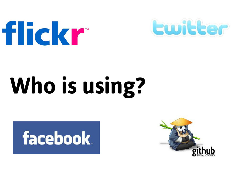 Who is using?