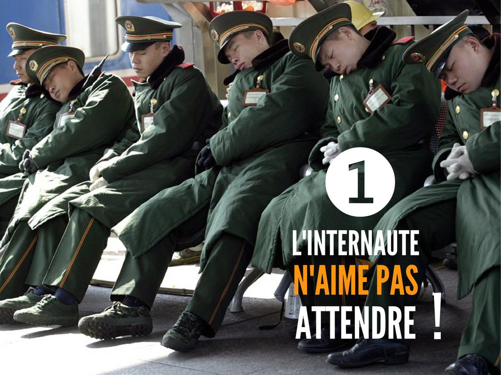 L'INTERNAUTE N'AIME PAS ATTENDRE ❶ !