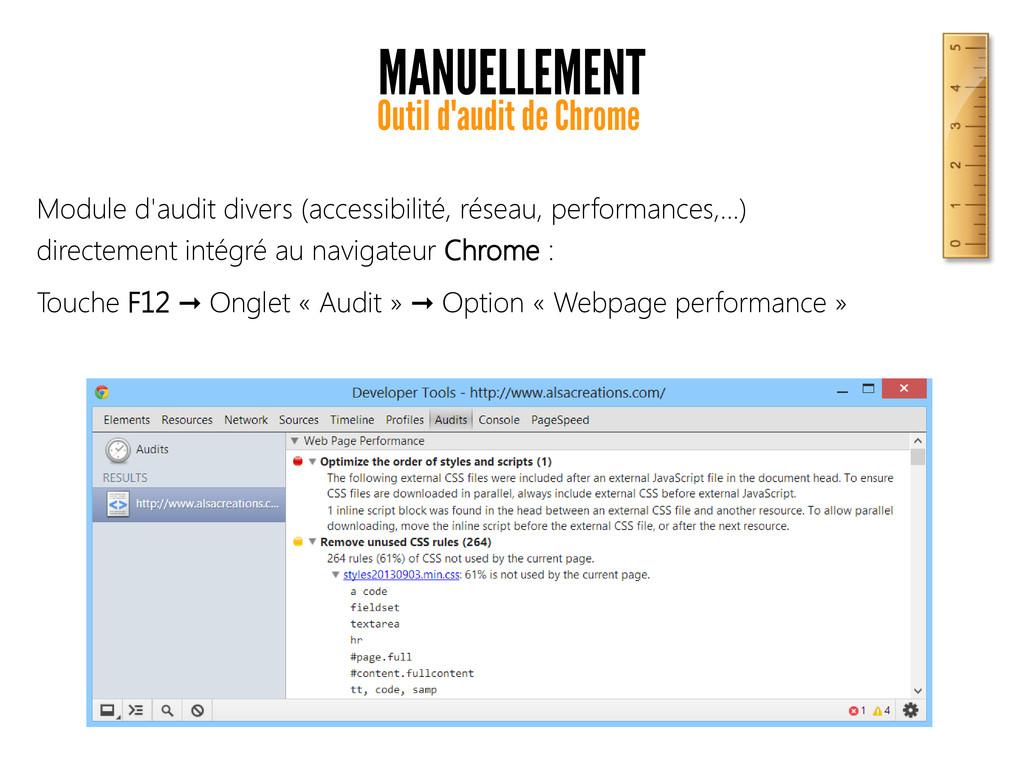 MANUELLEMENT Outil d'audit de Chrome Module d'a...