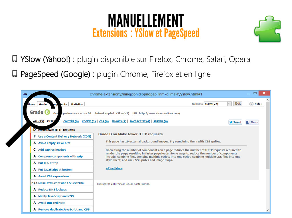 MANUELLEMENT Extensions : YSlow et PageSpeed YS...