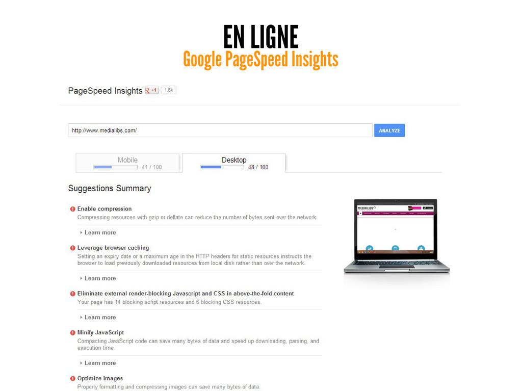 EN LIGNE Google PageSpeed Insights