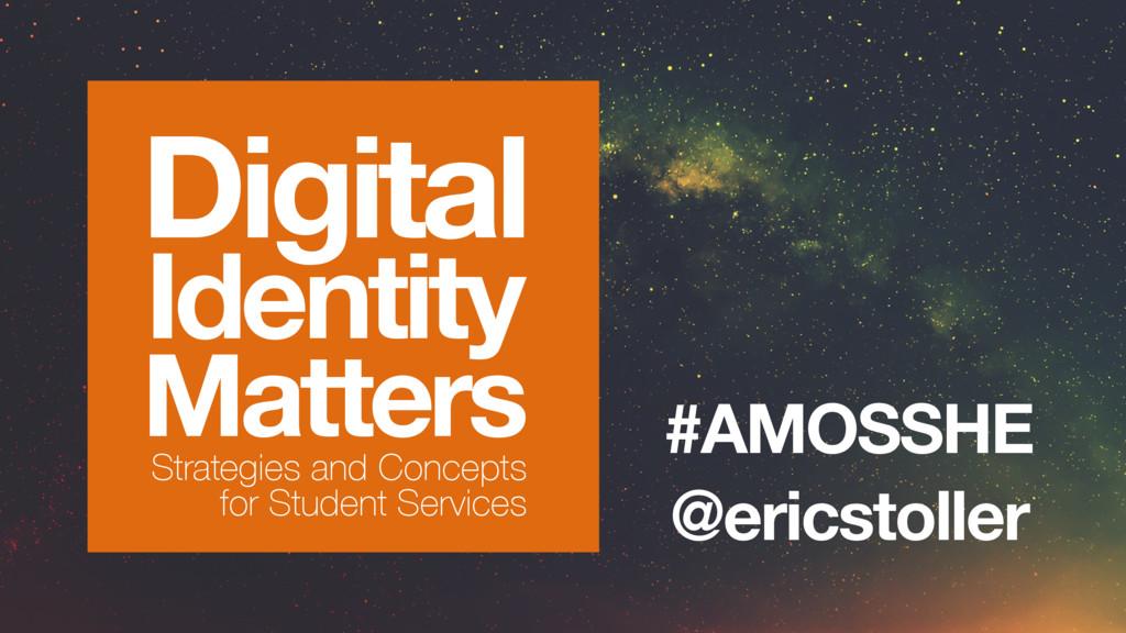 @ericstoller #AMOSSHE Digital Identity Matters ...